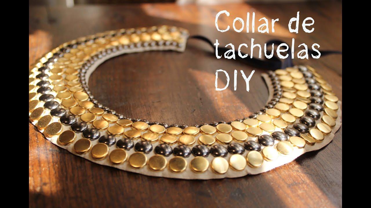 Un collar diy de tachuelas muy muy f cil youtube for Como hacer un collar para perro