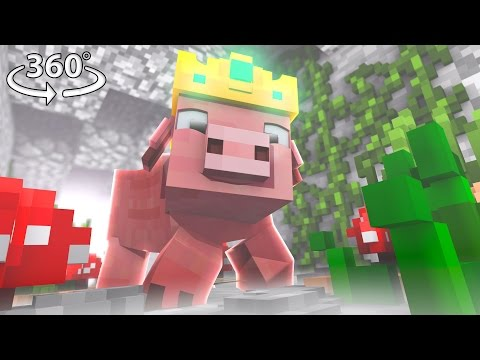Pigs Are Taking Over Minecraft! - 360° Video Minecraft