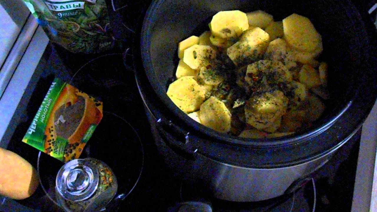Картофель с сыром и чесноком в мультиварке|запеченная картошка с мясом в мультиварке поларис
