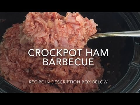 Crockpot Ham Barbecue