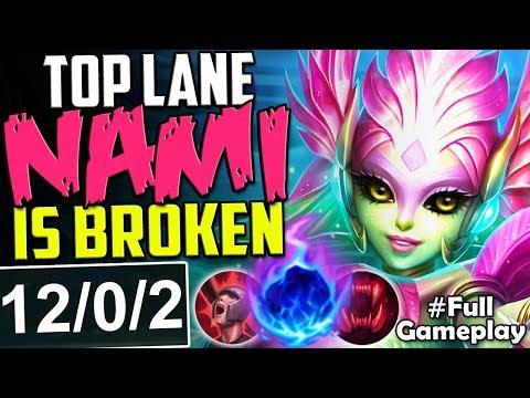 TOP LANE NAMI IS ACTUALLY BROKEN | WTF DAMAGE? | New Runes Nami vs Camille TOP PBE SEASON 8 Gameplay