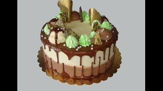 1.10. Нафантазировала. Торт с шоколадными подтеками.