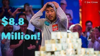 John Cynn Wins 2018 WSOP Main Event for $8,800,000
