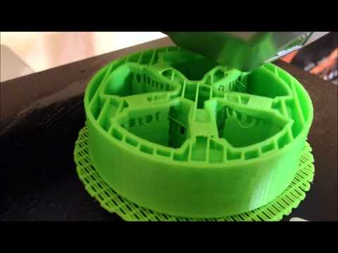 Cubify 3D printing car wheel in 4 hours - YouTube