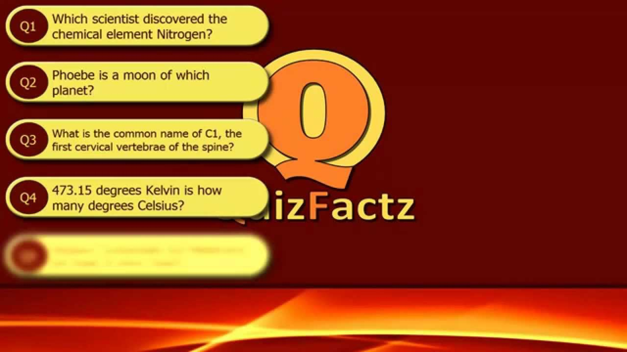 Science Quiz 1