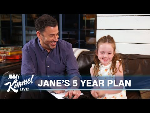 Jimmy Kimmel Helps 5-Year-Old Daughter Plan Her Future