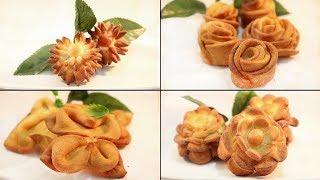 ৪ ধরনের ডিম ফুল পিঠা II পদ্ম -গোলাপ - সূর্যমুখী -চালতা ফুল পিঠা II 4 Types Egg Cake II ডিমের পিঠা