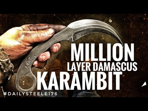 1 MILLION LAYER DAMASCUS KARAMBIT!!!!!