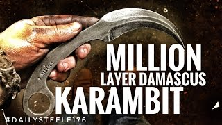 One of Alec Steele's most viewed videos: 1 MILLION LAYER DAMASCUS KARAMBIT!!!!!