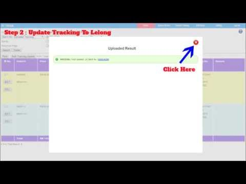 etrack.co | Upload Tracking and Update to Lelong