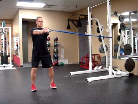 Band Anti Rotation Hold (Standing)