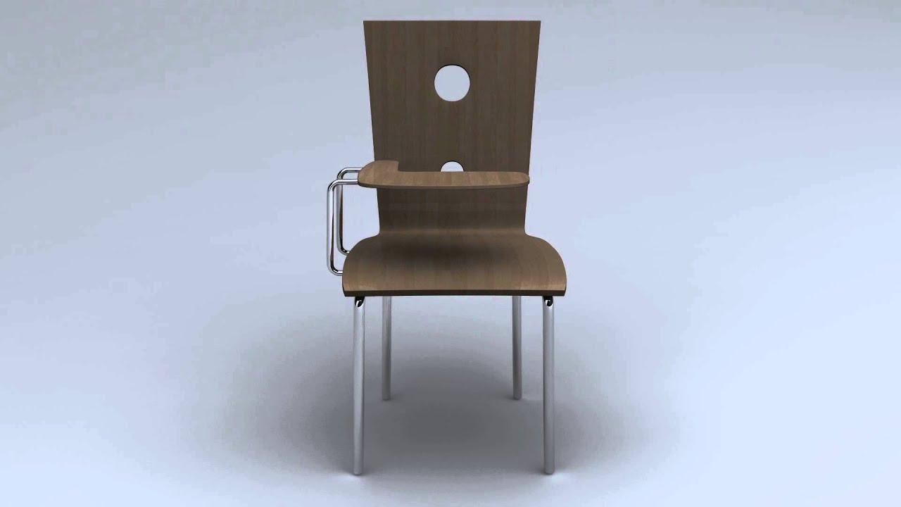 Classroom chair 3d model