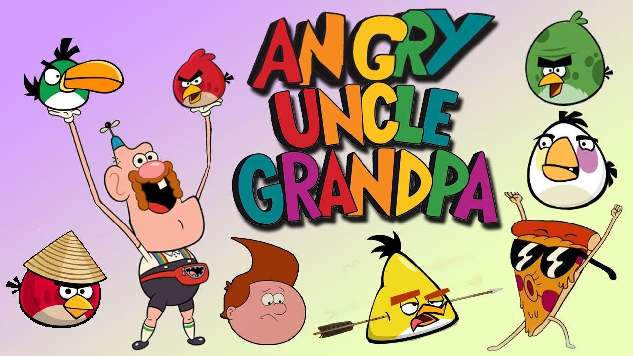 Gravity Falls Pig Wallpaper Angry Uncle Grandpa Uncle Grandpa Meets Angry Birds Parody