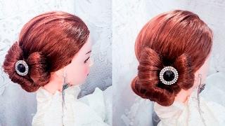 Прически Бантик прическа на длинные средние волосы bow hairstyle  long and medium хаир видео-урок