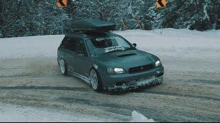 Subaru Legacy GTB Drifting + straight pipe exhaust