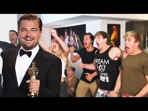 Fan's Crazy REACTION To Leonardo DiCaprio's Win - Oscar 2016