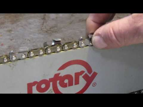 how to test your chainsaw bar to see if it is worn out