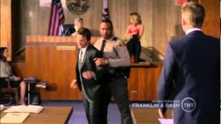 "Franklin and Bash 1x01 - Court scene ""Justice is naked!"""