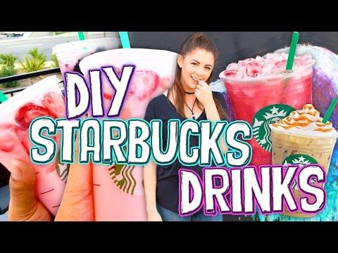 DIY Starbucks Drinks for Summer!! Pink Drink, Caramel Latte, & Passion Tea // Jill Cimorelli