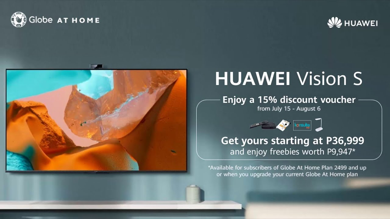 HUAWEI Vision S   Now available via Globe at Home
