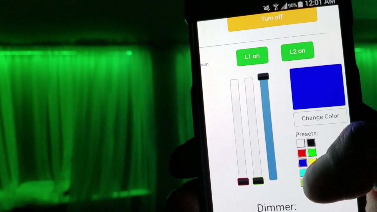 RGB Led strip controlled with Raspberry Pi using Phone