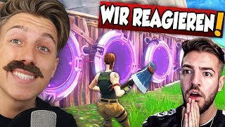 Reaktion auf NEUEN JUMPPAD TRICK in Fortnite mit Crimax