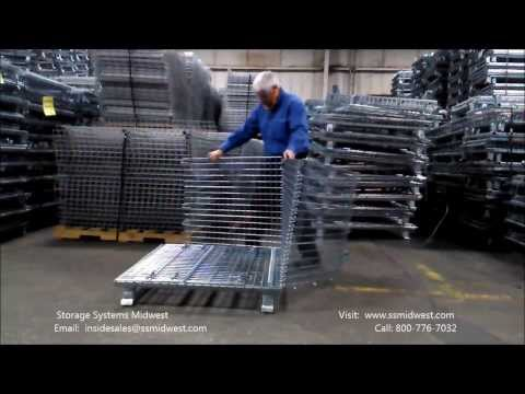 Assembling a Collapsible Wire Basket - Nashville Wire