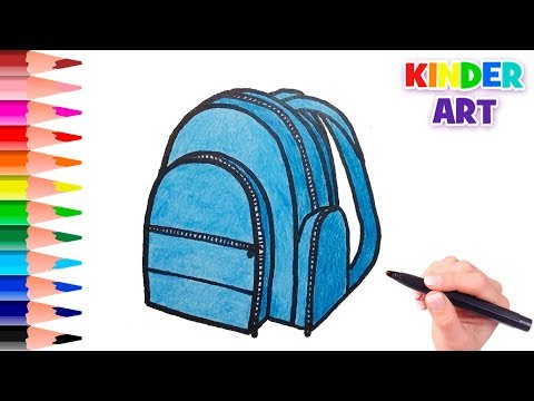 Как нарисовать школьный рюкзак