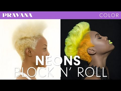 How-To   Neon Yellow and Orange Hair Color with VIVIDS
