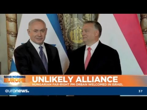 Unlikely Alliance: Hungarian far-right PM Orban welcomed in Israel