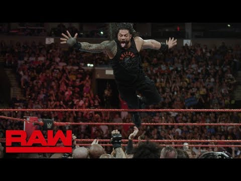 Roman Reigns' Gravity Defying Dive vs. Cinematic Look vs. Raw July 9, 2018