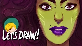 Let's Draw! #6 Gamora (Guardians of the Galaxy), by Margaux Saltel