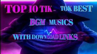 #trending tik tok background musics || top 10 best tik tok background musics