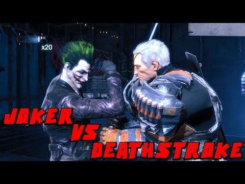 Batman Arkham Origins Joker VS Deathstroke Mod