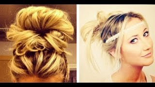 One of Carly Cristman's most viewed videos: 4 Easy No Heat Hair Styles: How to do Messy Buns!