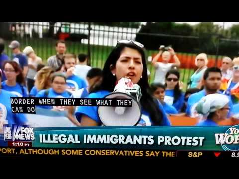 Illegal immigrants demanding citizens' rights