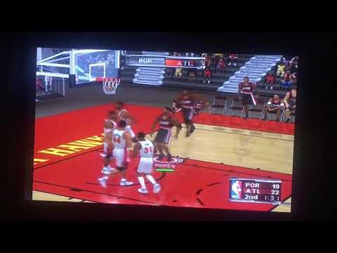 NBA Courtside 2002 - Portland Trail Blazers VS Atlanta Hawks (Part 2/2nd Quarter)