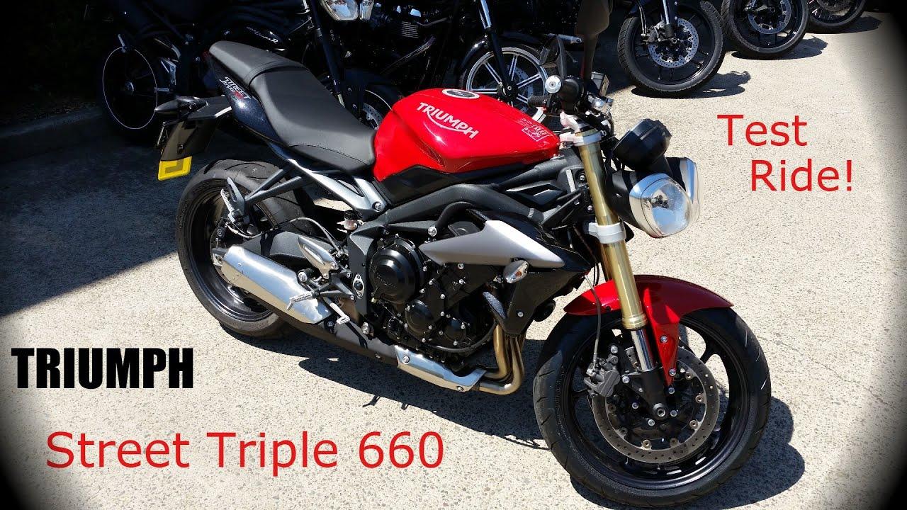 triumph street triple 660 test ride what a glorious bike youtube. Black Bedroom Furniture Sets. Home Design Ideas