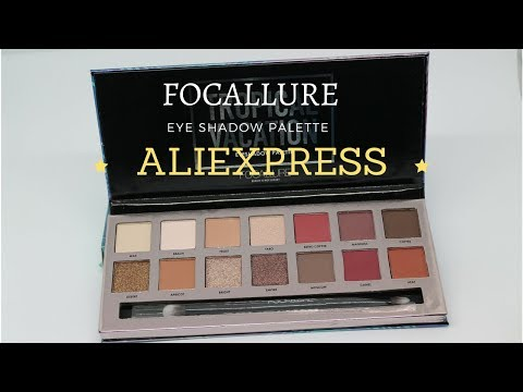 Focallure Tropical Vacation EyeShadow Palette  swatches- ALIEXPRESS