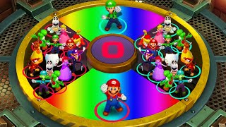 Super Mario Party - Minigames - Mario vs Luigi vs Peach vs Rosalina