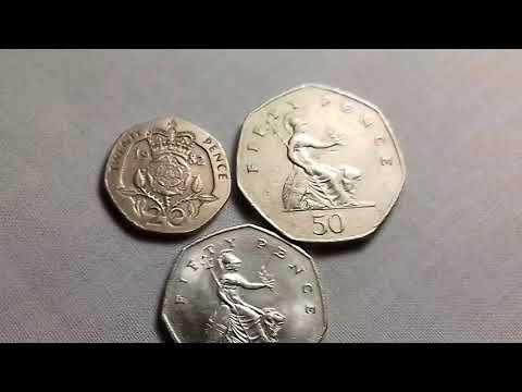 20...50 pence  1982...50 pence 1997