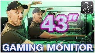 Gaming on a 43-inch 4K 120hz Monitor! (ASUS ROG XG438Q)