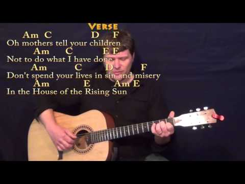 House of the Rising Sun - Guitar Fingerstyle Cover with Chords/Lyrics