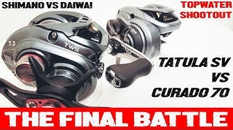 SHIMANO CURADO 70 VS DAIWA TATULA SV FINAL BATTLE: TOPWATER CAST DISTANCE BATTLE