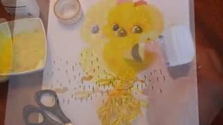 Цыпленок. Творческое занятие с малышами 2-3 лет