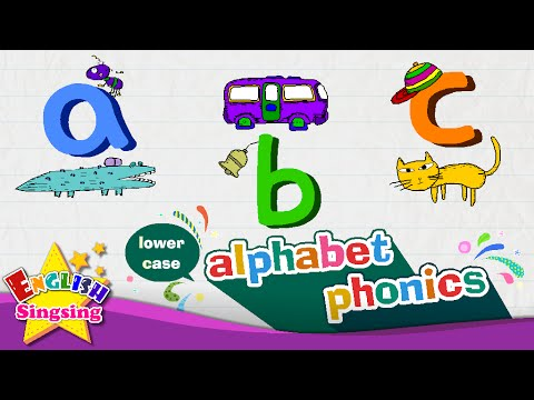 alphabet song – letter a to z - lower case (small letter)   Learning English for kids