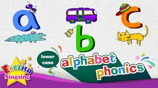 alphabet-Lied, Buchstaben a bis z - Kleinbuchstaben (klein-Buchstaben) | Englisch Lernen für Kinder