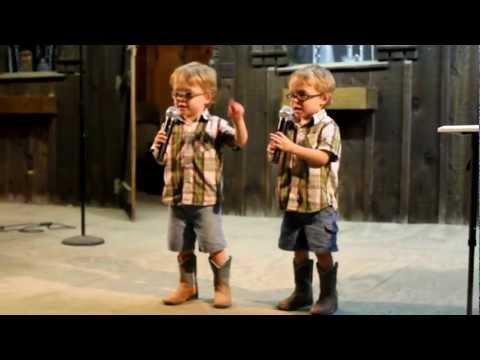 Waylon and Wyatt karaoke