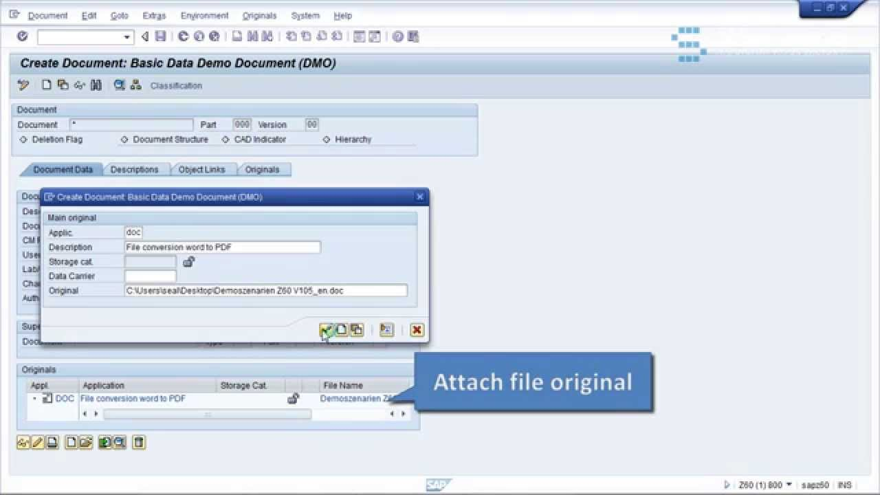 How to attach files to SAP DMS and automatically convert ...