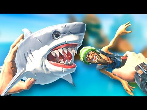 Feeding my PET SHARK some PIRATES! - Good Goliath VR